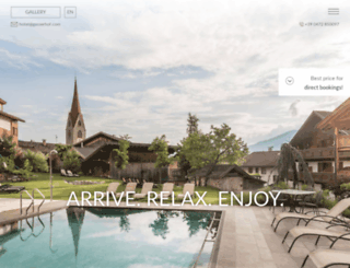 gasserhof.com screenshot