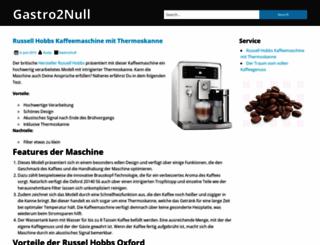 gastro2null.de screenshot