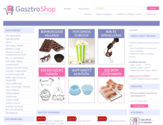 gasztroshop.hu screenshot