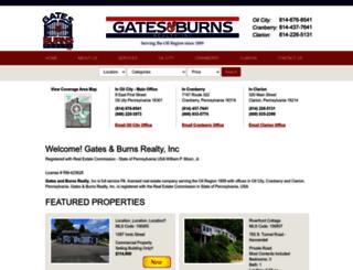 gatesandburnsrealestate.com screenshot
