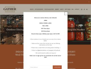 gatherrestaurant.com screenshot