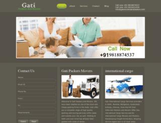 gatimoversandpackers.com screenshot