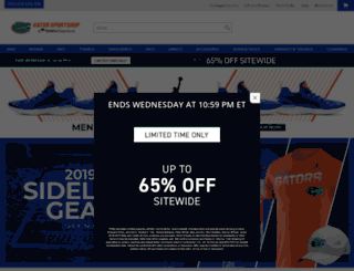 gatorzone.teamfanshop.com screenshot