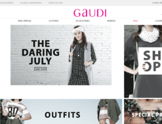 gaudi-clothing.com screenshot