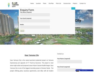 gaursyamunacity.org screenshot