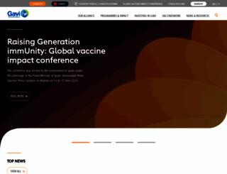 gavi.org screenshot