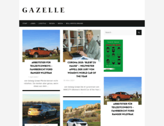 gazelle-magazin.de screenshot