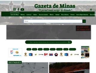 gazetademinas.com.br screenshot