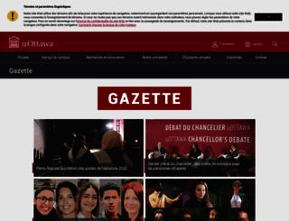 gazette.uottawa.ca screenshot