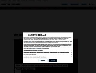 gazetteherald.co.uk screenshot