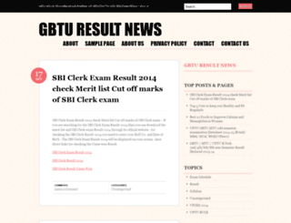 gbturesultnews.wordpress.com screenshot