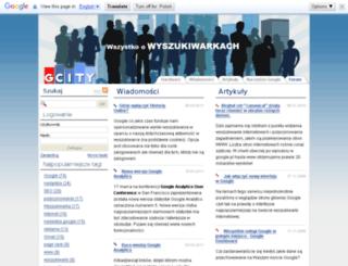 gcity.org.pl screenshot