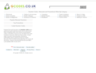 gcodes.co.uk screenshot