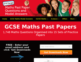 gcsemathspastpapers.com screenshot