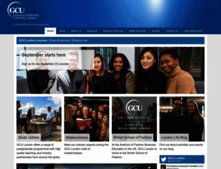 gculondon.ac.uk screenshot