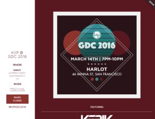 gdc2016.splashthat.com screenshot