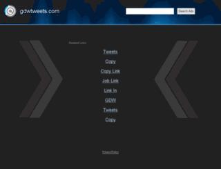 gdwtweets.com screenshot