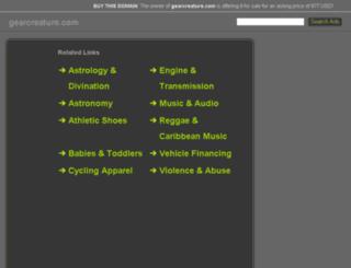 gearcreature.com screenshot