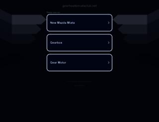 gearheadsmiataclub.net screenshot