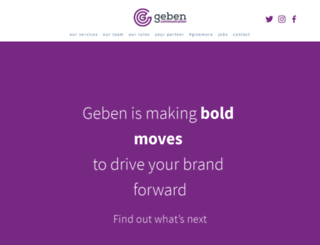gebencommunication.com screenshot