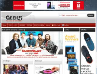 geek5.com.br screenshot