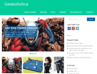 geekoholica.com screenshot