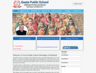 geetapublicschool.com screenshot