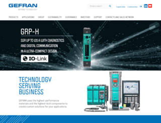 gefran.com screenshot