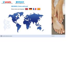 gehwol.com screenshot