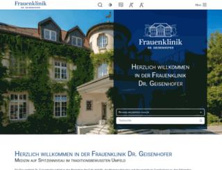 geisenhoferklinik.de screenshot