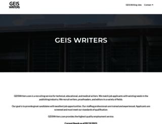 geiswriters.com screenshot