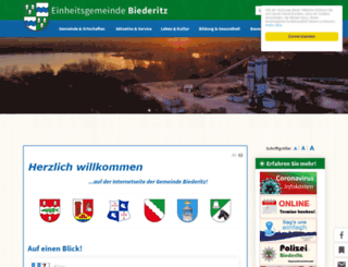 gemeinde-biederitz.eu screenshot