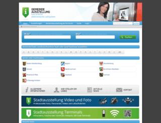 gemeindeausstellung.de screenshot