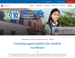 gemswinchesterschool-dubai.com screenshot