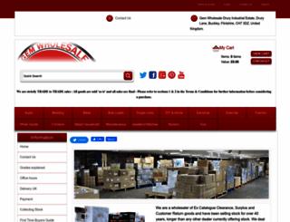 gemwholesale.co.uk screenshot