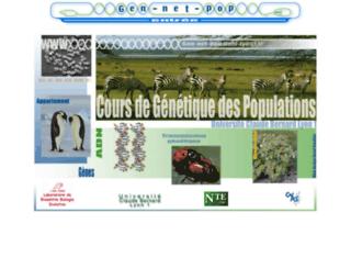 gen-net-pop.univ-lyon1.fr screenshot