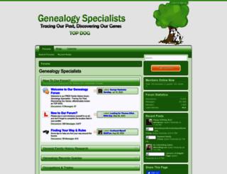 genealogy-specialists.com screenshot