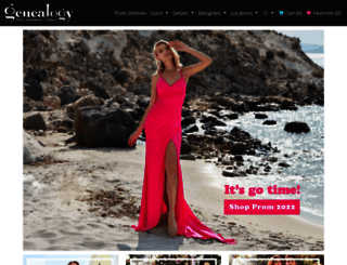 genealogydresses.com screenshot