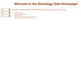 genealogygals.com screenshot
