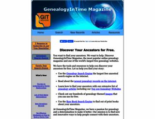 genealogyintime.com screenshot