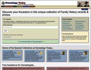 genealogytoday.com screenshot