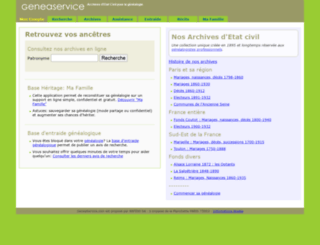 geneaservice.com screenshot