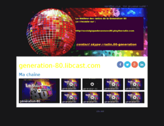 generation-80.libcast.com screenshot