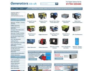 generators.co.uk screenshot