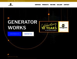 generatorworks.co.za screenshot