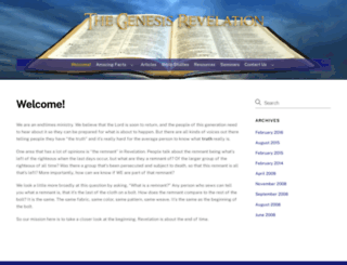 genesisrevelation.com screenshot