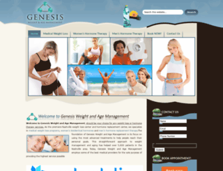genesisweightandagemanagement.com screenshot