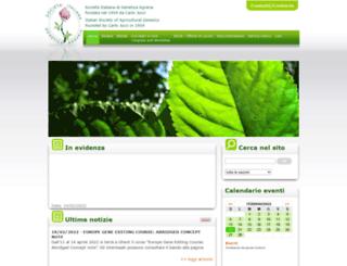 geneticagraria.it screenshot