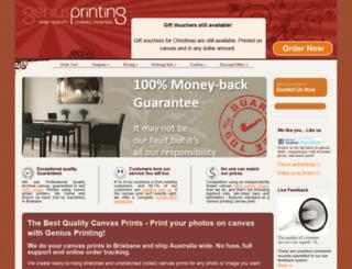 geniusprinting.com.au screenshot