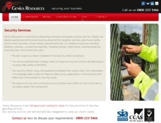 geniusresources.co.uk screenshot